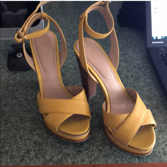 2382cebcceff Aldo Shoes - Aldo yellow summer heels! Must go l!